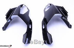 2009-2014 BMW S1000RR Head Cowl Headlight Cover Nose Fairing Carbon Fiber Twill