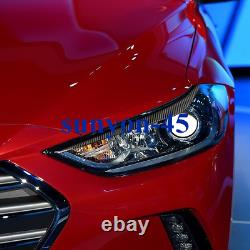 2017-2018 For Hyundai Elantra Carbon Fiber Head Light Lamp Eyebrow Eyelid Trim2