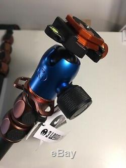 3 Legged Thing Albert 2.0 Carbon Fiber Tripod + Airhed Pro Head (Blue/Copper)