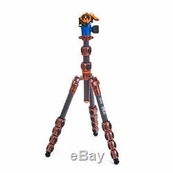 3 Legged Thing Leo 2.0 Carbon Fiber Travel Tripod with AirHed Pro Lever Head