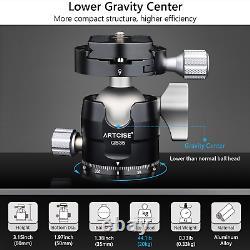63.8 in Carbon Fiber Camera Tripod Compact Lightweight & Low Profile Ball Head