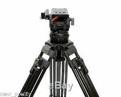 66 V12T Carbon Fiber Camera Tripod With Fluid Head 12KG FR Red Scarlet Epic FS700