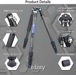 Artcise CS50C Carbon Fiber Tripod & Low Profile Ball Head Max Load 44 lbs/20kg