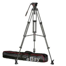 Avella VD501L Video Tripod Kit 74 Inch with Fluid Head for Camcorde