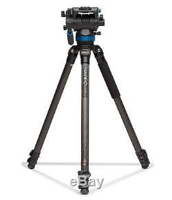 Benro C373FBS8 Carbon Fiber VideoTripod Kit with S8 Head Max Load 17.6 lb