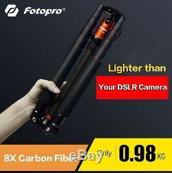 Black Fotopro X-4CN+42Q Adjustable Professional Camera Tripod Stand +Ball Head