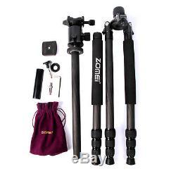 Black Pro Carbon Fiber Tripod Z818C Travel Monopod&Ball Head for DSLR Camera