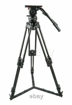 CAME-TV Carbon Fibre Pro Tripod With Fluid Head Max load 29.6kg For Sony / Canon