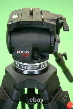 CARTONI FOCUS HD 100MM BOWL HEAD with CARBON FIBER TRIPOD & PADDED BAG