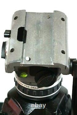 CARTONI Z100 LASER FLUID HEAD TELESCOPIC PAN BAR WEDGE PLATE TDOWN SERVICED 26Lb