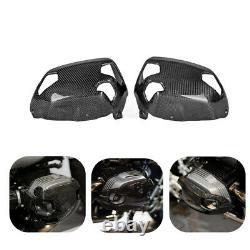 Carbon Fiber Cylinder Head Guards Protector Cover For BMW R NINET 2014 2015-2017