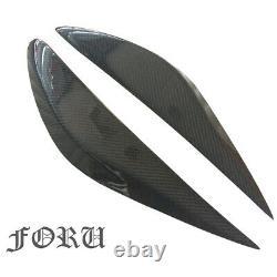 Carbon Fiber Front Grille + HeadLight Eyebrow Trim For Nissan Teana ALTIMA 13-15