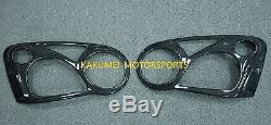 Carbon Fiber Head Light Covers For 2004 2005 04 05 Subaru STi WRX BLOB-EYED