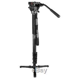 Carbon Tripod Monopod with 3 Feet&360° Video Head for DSLR Camera Video 4208F