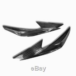 Carbon fiber Head Lights Lamp Eyebrow Eyelid Garnish For Nissan Altima 16-18 SR