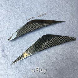 Carbon fiber front head light Eyebrow cover trim for Nissan Teana ALTIMA 2013-15