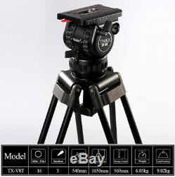 Clearance Load19lb Heavy Carbon Tripod + Head ball Kit + Soft Bag For Film Movie