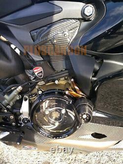 Ducati Panigale 1199 1299 Twill Carbon Fiber Bulk Head Cover Set Matt