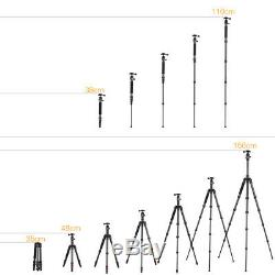 Foldable Carbon Fiber Video Tripod with Ball Head Max Load 10kg for DSLR Cameras