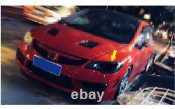 For Honda Civic FD2 2006-2011 Front Head Light Lamp Frame Refit Dry Carbon Fiber