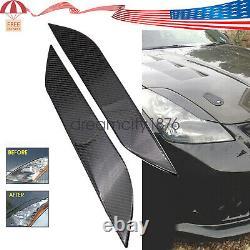 For Nissan 03-09 350z/z33/fairlady Carbon Fiber Headlight Eye LID Eyelids Cover