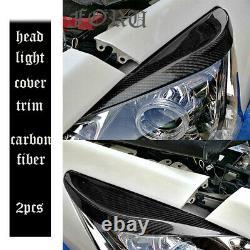 For Nissan Teana ALTIMA 13-15 Carbon Fiber Front Grille + HeadLight Eyebrow Trim