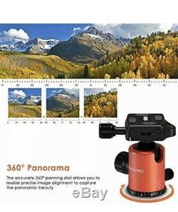 GEEKOTO 79inches Carbon Fiber Camera Tripod Monopod 360 Degree Ball Head CT25Pro