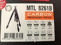 Giottos MTL 8261B carbon fiber tripod used quick release head