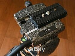 Gitzo G1329 Carbon Fiber tripod G2380 2 way Head & G1321 Leveling Base Video