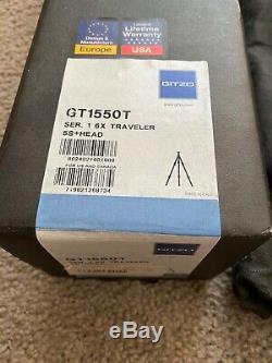 Gitzo GT1550T Carbon 6x Traveler Tripod + Ball Head 2.2lbs Ultra Light