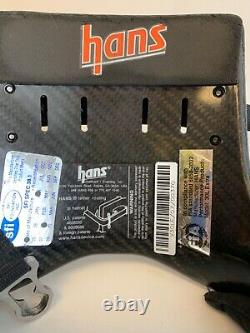 HANS head and neck support carbon fiber with pads