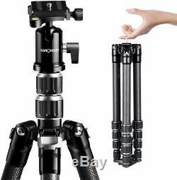 K&F Concept 61'' Lightweight Carbon Fiber DSLR Camera Tripod with 360° Ball Head