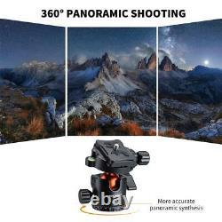 K&F Concept 68 Carbon Fiber Camera Tripod Lightweight Compact, 360° Ball Head