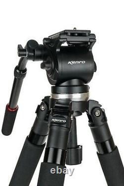 Kenro Standard Video Tripod Kit Carbon Fibre with VH01B Fluid Head KENVT102C