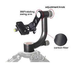 Koolehaoda Carbon Fiber Gimbal Tripod Head 360° Panoramic Head for Camera