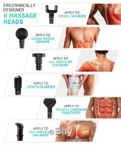LCD Massage Gun Percussion Massager Muscle Vibrating Relaxing Rechargeable Set
