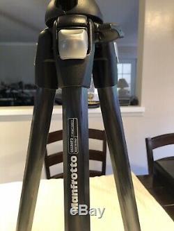 Manfrotto 055MF3 Magfiber Pro Carbon Fiber Tripod With Manfrotto Head
