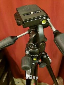 Manfrotto 190 Carbon Fiber Tripod, Head 808RC4