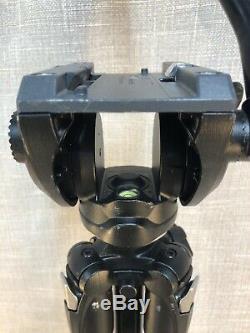 Manfrotto 290XTC3US 290 Xtra Carbon Fiber Tripod + Manfrotto Fluid Head Set READ
