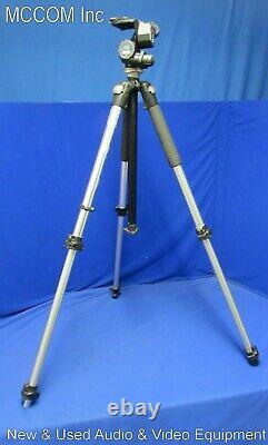 Manfrotto 410 Tripod Head with 3021N Aluminum Legs