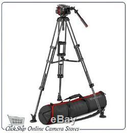 Manfrotto 504HD Head & Carbon Fiber Twin Leg Video Tripod Kit Mfr # MVK504TWINMC