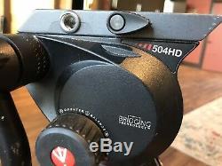 Manfrotto 504HD Head Carbon Fiber Video Tripod Kit
