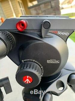 Manfrotto 504HD Video Fluid Head with 536 4-Section Carbon Fiber Tripod Kit