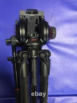 Manfrotto 504HD Video Head with 535 MPro Carbon Fiber Tripod System WithBag Great