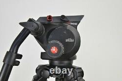Manfrotto 535 MPRO Carbon Fiber Tripod & 504HD Fluid Head