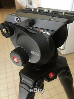 Manfrotto 536 4-Section Carbon Fiber Tripod with504HD Fluid Head (NEW-Open Box)