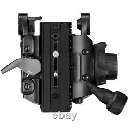 Manfrotto 608 Nitrotech Fluid Video Head & Carbon Fiber Twin Leg Tripod GS