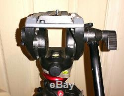 Manfrotto 755CX3 Portable Carbon Fiber Video Tripod withMVH 500 AH Fluid Drag Head