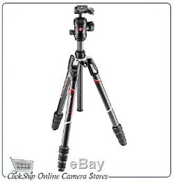 Manfrotto Befree GT MKBFRTC4GT-BH Travel Carbon Fiber Tripod with 496 Ball Head