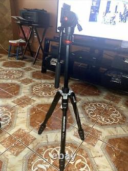Manfrotto Befree Live Carbon Fiber Video Tripod Kit with Fluid Head Black